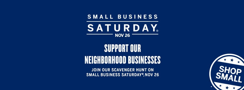 Shop Small – Small Business Saturday & Scavenger Hunt