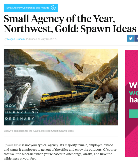 Ad Agency Article - Small Agency of the Year, Northwest